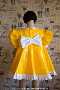 Sissy Baby Doll Dress Yellow PVC by Ready2Role JAN17-6