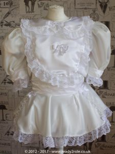 Sissy Dress Rosie Ivory Satin by Ready2Role JAN17