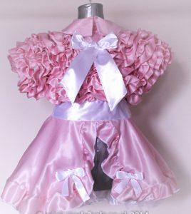 Bow Peek Sissy Ruffle Dress – Pink Version 0 2