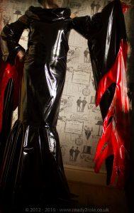 """""""Morticia"""" PVC Costume 4"""
