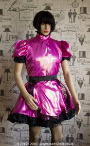 Nawty Shorty – Satin Dress with half apron 1