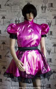 Nawty Shorty – Satin Dress with half apron 2
