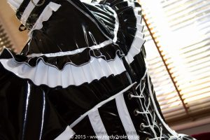 Sissy Candy Cupcake PVC Dress With Boned Cincher 3