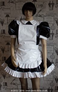 Alice Even More Sissy PVC Maid Dress With Full Apron – Black & White Version – Ask About Colours 4