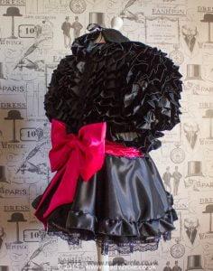 Bow Peek Sissy Ruffle Dress – Black Version 2