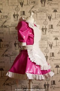 Alice Even More Sissy PVC Maid Dress With Full Apron – Pink & White Version 3