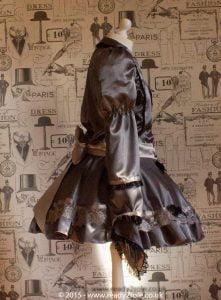 Victoria – Sissy Satin Long Sleeved Dress 5