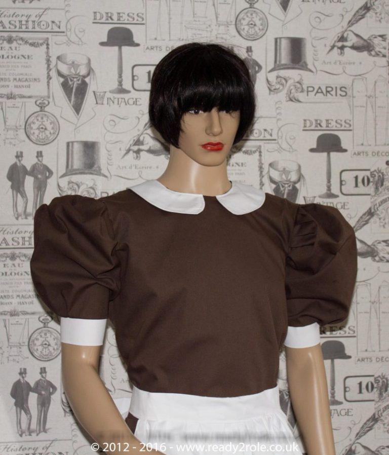 Alice Cotton Maids Dress With Half Apron 1