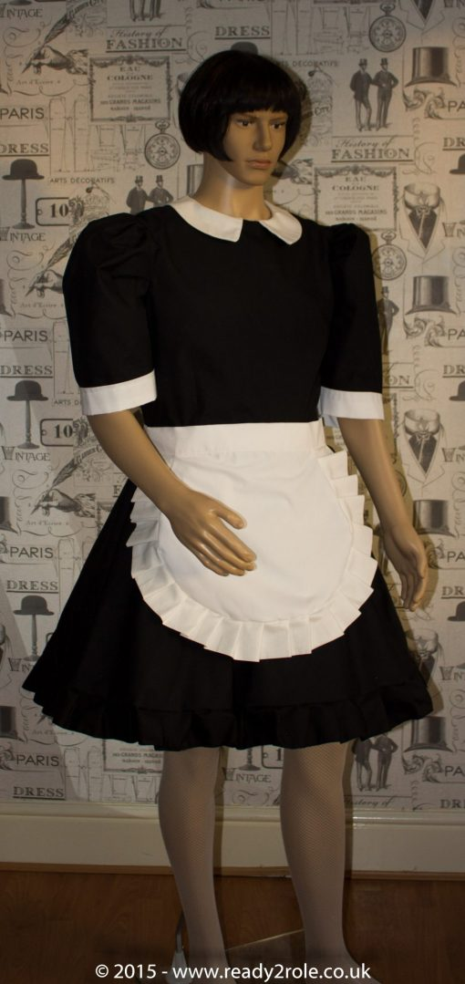 FPJ Maid to Serve – Cotton Sissy Maid Dress With Half Apron 1