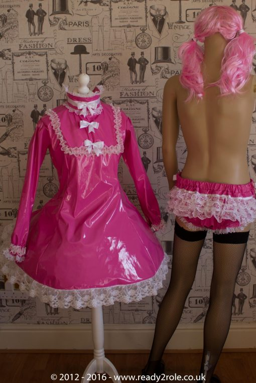 "The ""Fleur"" PVC Dress With Apron – Ask About Colour, Fabric and/or locking Options 5"