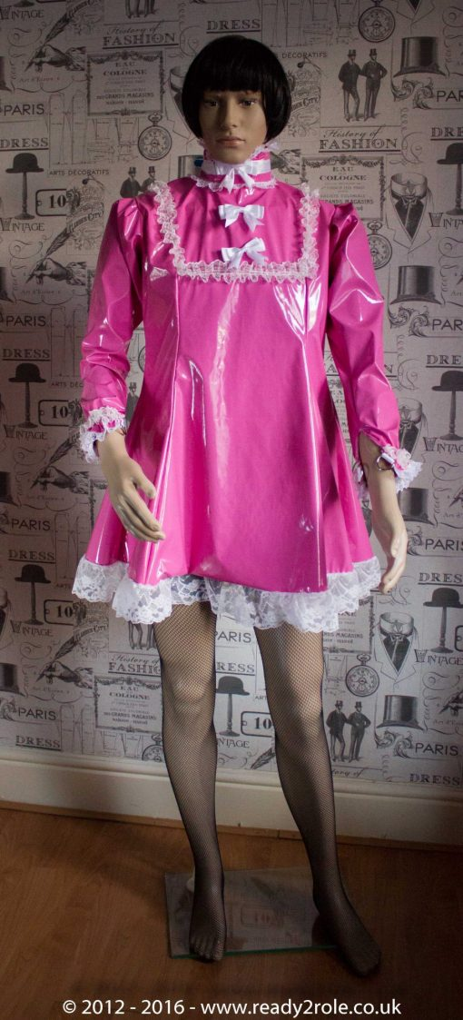 "The ""Fleur"" PVC Dress With Apron – Ask About Colour, Fabric and/or locking Options 3"