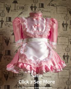 Hi Neck Frilly Sissy Dress