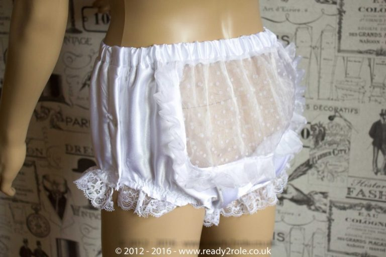 Sissy Satin Panties with Side Popper Fastening – Ask About Colour and Fabric Options 1
