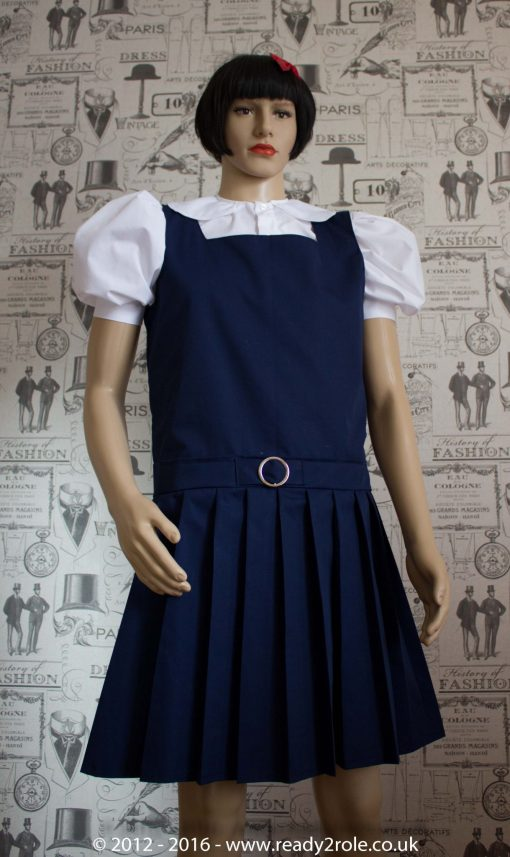 Adult School Uniform Dresses – Pinafore Style Knife Pleat Skirt 3