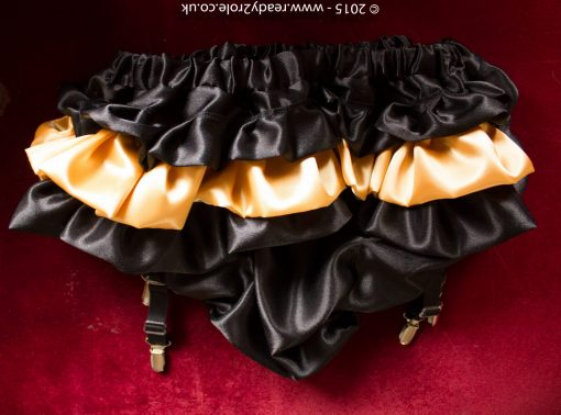 Sissy Satin Panties With Suspender Clips 1