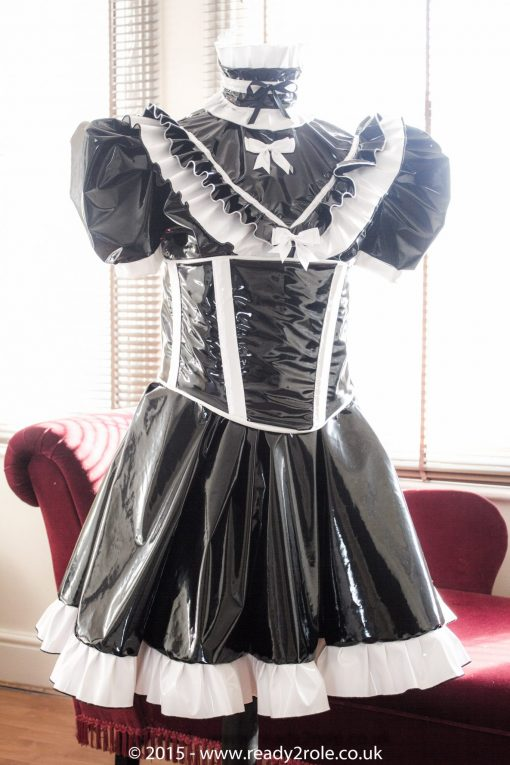 Sissy Candy Cupcake PVC Dress With Boned Cincher 2