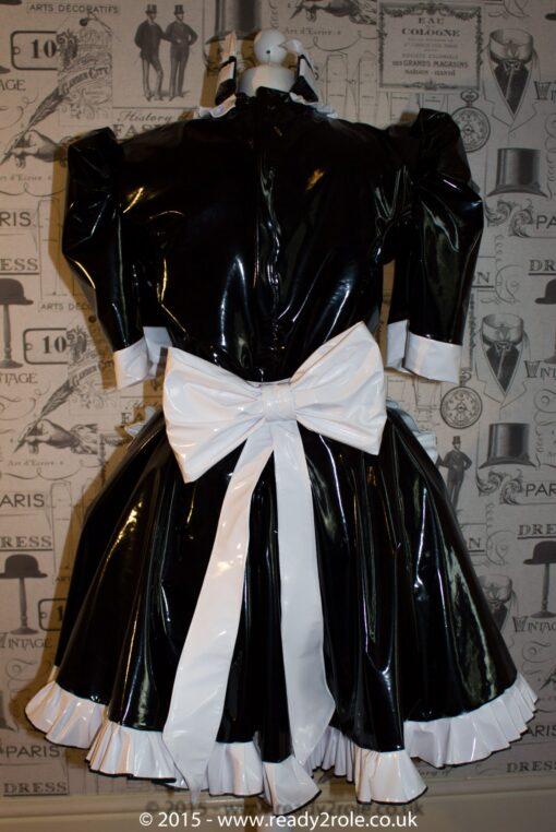 Hi Alice PVC Maids Dress With Half Apron 2