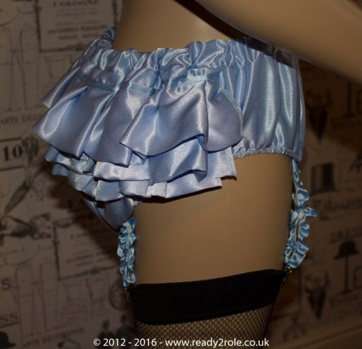 Sissy Blue Satin Panties With Suspender Clips – Ask About Colour Choices 3