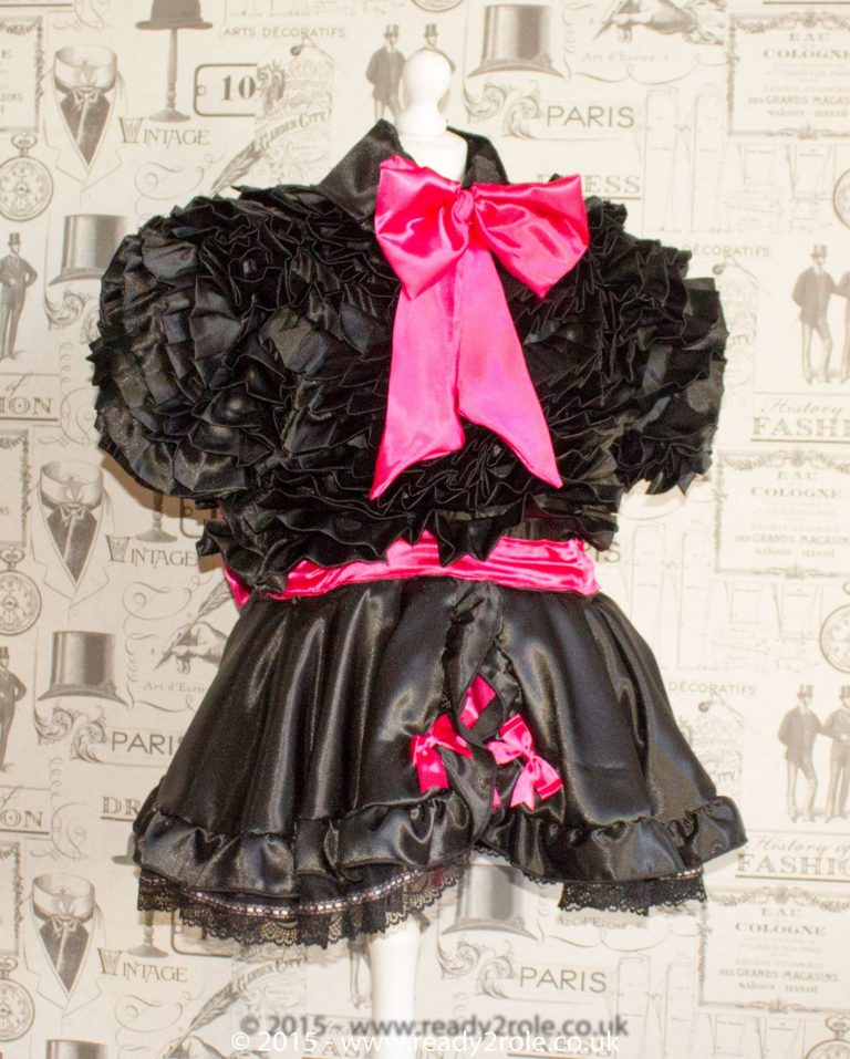 Bow Peek Sissy Ruffle Dress – Black Version 1