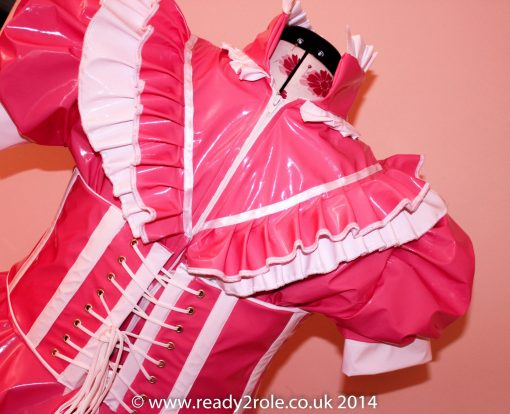 Sissy Candy Cupcake (Pink) PVC Dress With Boned Corset 2
