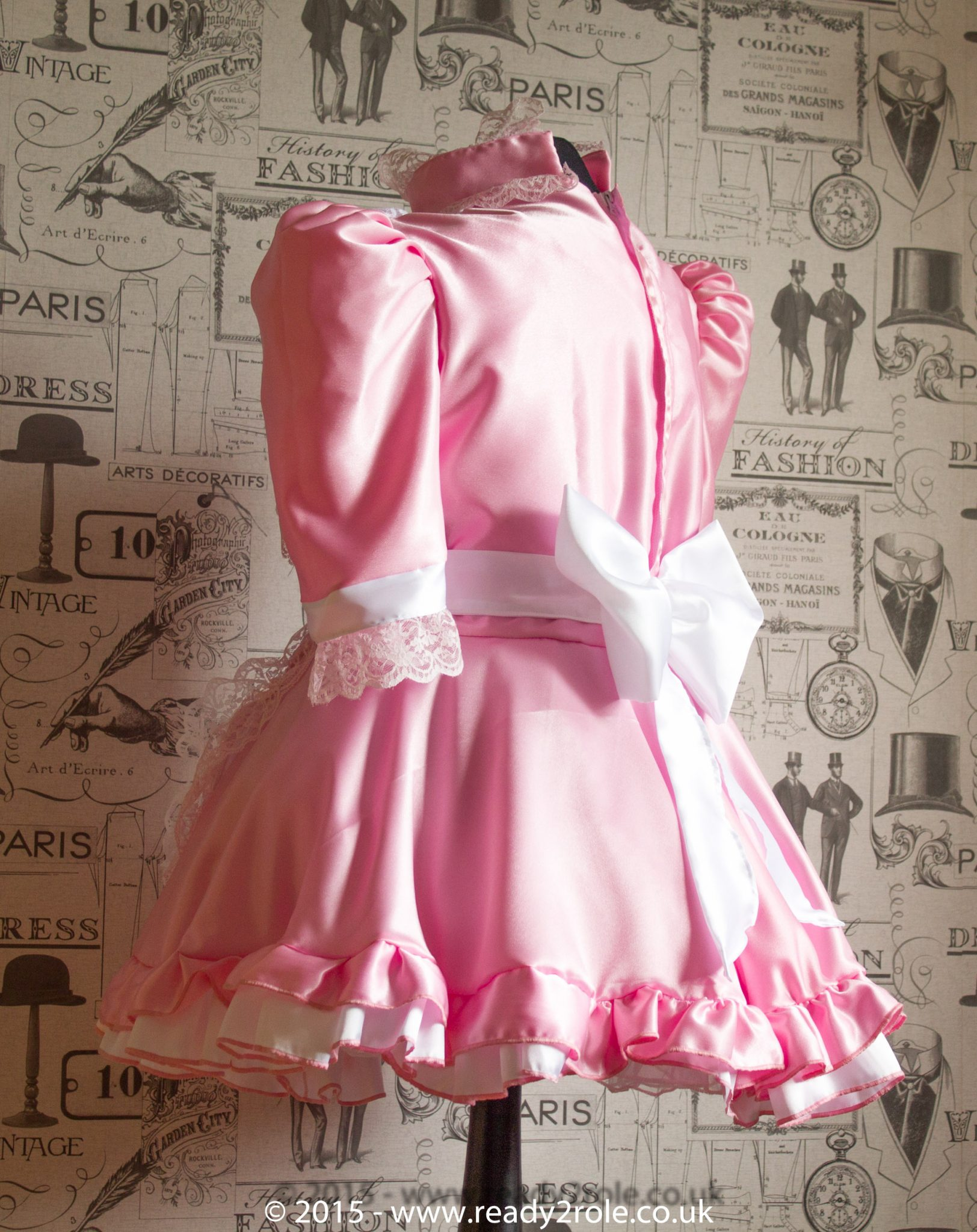 Hi Neck Frilly Sissy Dress – Ask About Colour Choices 2