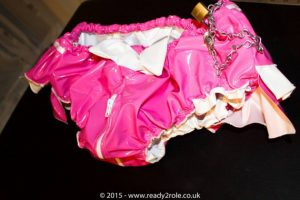 "Sissy AB PVC Panties ""The Aimi"" Panties (With Zip thru crotch) – Plastic or Satin Lined – Lockable functions available 1"