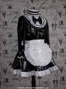 Lucy Locket – Sissy PVC Maids Dress 1