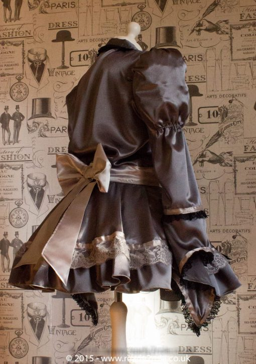 Victoria – Sissy Satin Long Sleeved Dress 6