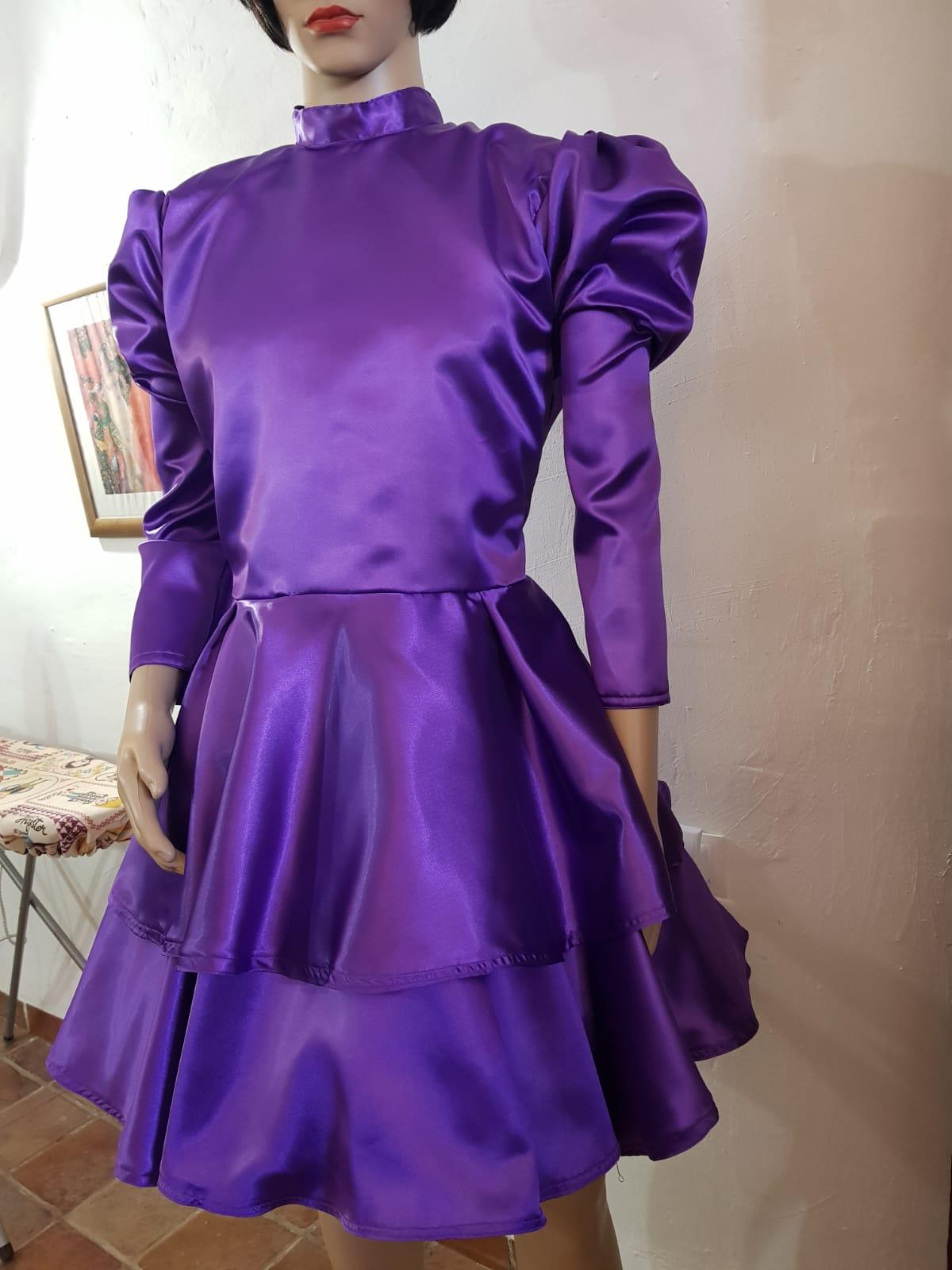 Satin Skater Sissy Dress
